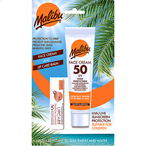 SPF50 LOTION FOR FACE 40ML+SPF30 LIPBALM