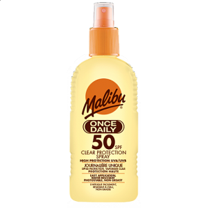 SPF50 ONCE DAILY CLEAR PROTECTION 200ML