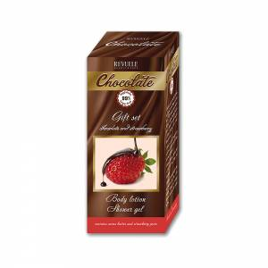 CHOCOLATE AND STRAWBERRY GIFT SET(SHOWER GEL 200ml+BODY LOTION 200ml)