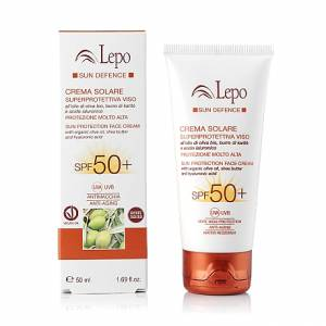 SUN PROTECTION FACE CREAM SPF 50+ WITH ORGANIC OLIVE OIL, SHEA BUTTER AND HYALURONIC ACID 50ml